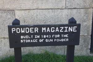 Powder Magazine, which was built in 1843.