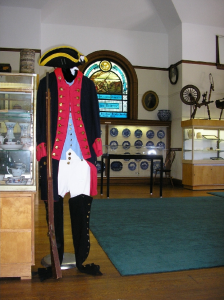 Artifacts on display in the museum