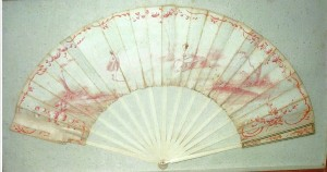 A fan for the British ship, Hannah, captured during the Revolution