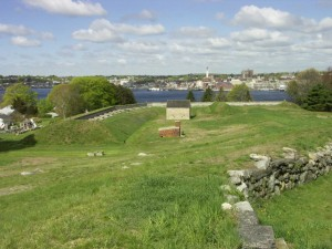 The view of New London from Fort Griswold in Groton, CT