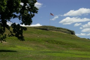 Flag over Fort Griswold