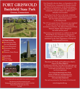 Fort Griswold Battlefield State Park rack card