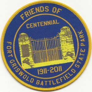 Friends of Fort Griswold Battlefield State Park Centennial Patch. 1911-2011