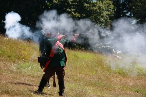 Reenactment of Battle of Groton Heights at Fort Griswold