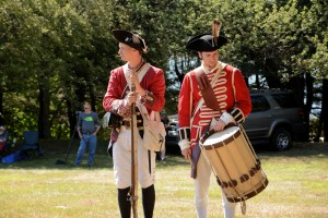 Royal American Reformers portray the British and Loyalist during a re-enactment commemorating the 234th anniversary of the Battle of Groton Heights at Fort Griswold Battlefield in Groton, CT.