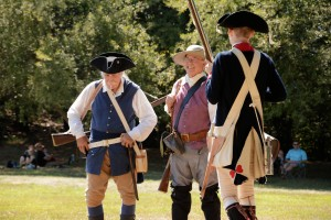 Re-enactors at the Battle of Groton Heights, Fort Griswold Battlefield in Groton, CT