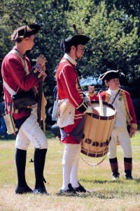 Re-enactors on Septemebr 6, 2015 at the Battle of Groton Heights, Fort Griswold Battlefield in Groton, CT