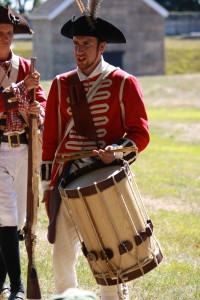 Setting the cadence for marching into battle at Fort Griswold in Groton, CT.